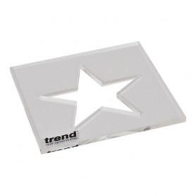 Gabarit pour incrustation en forme d'étoile