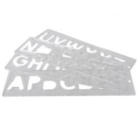 Gabarit trace-lettres 57mm en majuscules