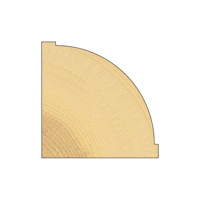 Fraise quart de rond avec guidage par roulement rayon 38 for Quart de rond polystyrene